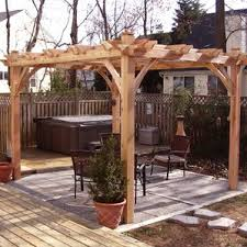 5 Ft Patio Swing With Cedar Pergola Create by Outdoor Living Today Wayfair