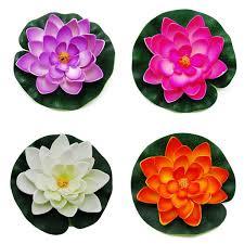 amazon com floating pond decor water lily lotus foam flower