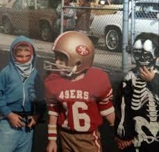 49ers Halloween Costume Tom Brady Dressed Joe Montana Halloween 1983