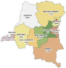 Republic Of Congo Map Map Of The Democratic Republic Of Congo With Provincial Hiv