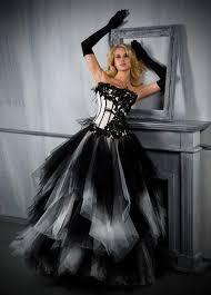 robe de mariee gothique noir et blanc robes de - Robe De Mari E Gothique