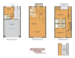 Single Family Floor Plans Brownstone Square Contemporary Row Homes Single Family Homes In