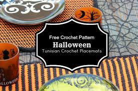 halloween tunisian crochet placemats tutorial olives u0026 okra