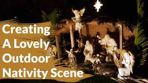 how to create a lovely outdoor nativity