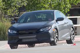 Honda Civic India Interior 2017 Honda Civic Si Coupe First Sighting 2016 Honda Civic