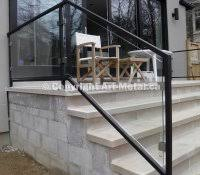 aluminum handrails for concrete steps create little drama on your