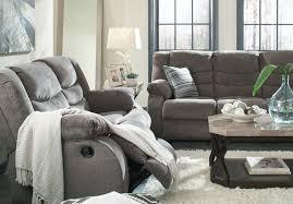 Chenille Reclining Sofa by Furnituremaxx Tulen Contemporary Gray Color Chenille Fabric