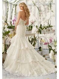hem wedding dress mori 2810 moonstone beading scalloped hem wedding dress