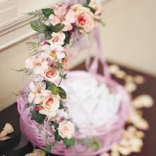 basket for wedding programs church wedding decoration florals for church weddings