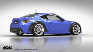 subaru brz stanced ml24 automotive design prototyping and body kits
