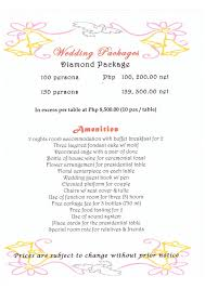 wedding packages prices packages