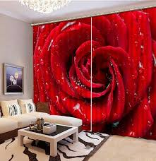 aliexpress com buy 3d curtains red rose curtains for living room