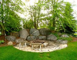 Firepit Outdoor Outdoor Fireplaces Backyard Pits Boulder Images Inc