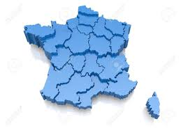 France On Map by Three Dimensional Map Of France On White Background 3d Stock Photo