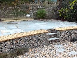 stone wall features gabion retaining wall garden gabion wall