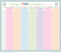 6 best images of free printable hourly schedule planner free