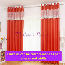 Sheer Curtains Orange Curtains Valance Design Lace Velvet Bedroom Door Fabric Drapes