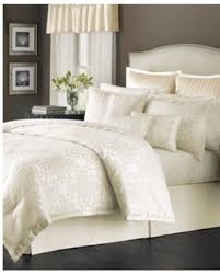 Macy S Comforter Sets On Sale Deals On Closeout Martha Stewart Collection Savannah Scroll Ivory