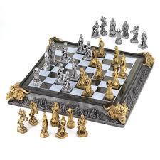 amazon com koehler 35301 17 inch medieval knights chess game set