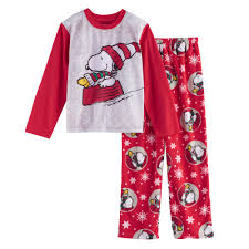 4 12 jammies for your families peanuts snoopy woodstock sledding