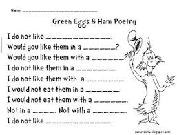 seusstastic classroom inspirations green eggs and ham poetry dr