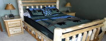 Rustic Log Bedroom Furniture Rustic Log Furniture Solid Cedar Made In Michigan