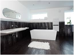 Black And White Tile Bathroom Ideas by Bathroom Black And White Bathroom Wall Decor Small Blue