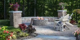 belgard fire pit backyard design top garden retaining wall carolbaldwin