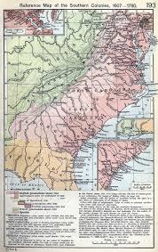 13 Colony Map South Carolina Colony