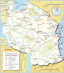 Political Map Africa by Political Map Of Tanzania 1200 Px With Nations Online Project