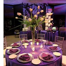 purple and silver wedding vase is a great way to a large centerpiece and