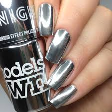 the polish list models own one night stand mirror effect polish