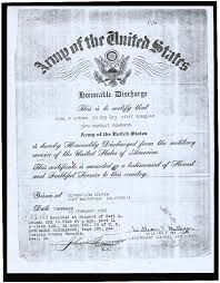 honorable discharge certificate calisphere army of the united states honorable discharge