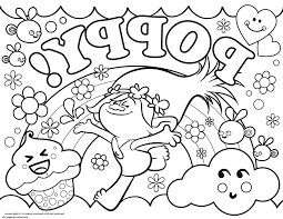 trolls coloring pages poppy trolls pinterest