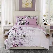 Teen Floral Bedding Teen Girls Bedding Twin Purple Floral Comforter Set Full Queen