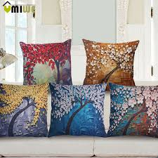 Decorative Throw Pillow Case Home Textiles 3D Oil Painting
