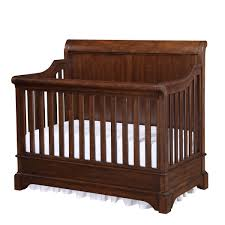 Reagan 4 In 1 Convertible Crib by Dark Wood Crib Easy On The Eye Baby Bed Design Ideas With White
