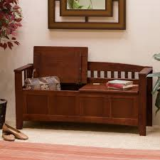 Entry Hall Furniture by Furniture Entryway Bench Made From Varnished Teakwood
