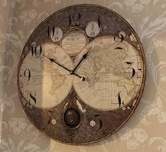 large wall clock large atlas pendulum wall clock windsor browne