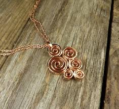 copper necklace pendant images Spiral pendant copper everyday jewelry jewelry by elsa jpg