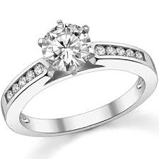 channel set engagement rings moissanite channel set cathedral engagement ring