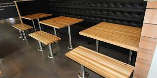 portfolios archive mcclure block butcher block and hardwood restaurant dinning tables hickory edge grain