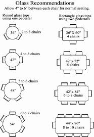 Glass Sizes For Chairs Around A Table Recommended Number Of Chairs - Dining room table measurements
