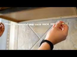 Kitchen Cabinet Undermount Lighting by How To Install Led Under Cabinet Lighting Youtube