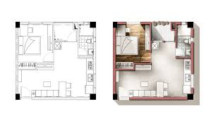 architecture floor plan architecture plan render by photoshop