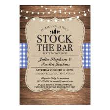 stock the bar party stock the bar party invitations announcements zazzle