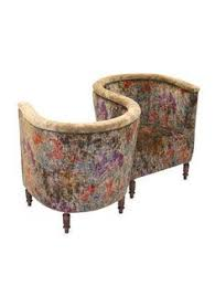 Kissing Chairs Antiques Victorian A Tour I Once Took Explained This Seating Arrangement