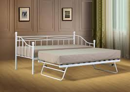 Daybed With Trundle And Mattress White Or Black Metal Daybed Guest Bed With Trundle Mattress