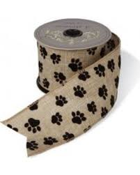 spectacular deal on paw print ribbon