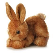 stuffed bunny 8 bitty brown bunny